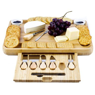 Bamboo Cheese Board and Knife Collection