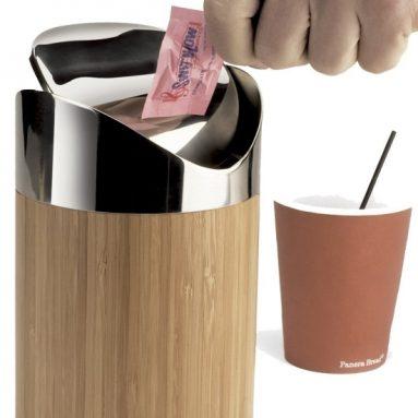 Bamboo Counter Trash Bin