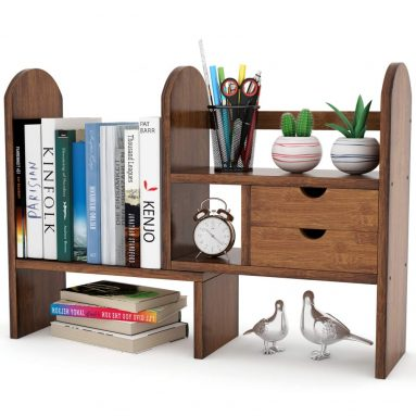Bamboo Desktop Bookshelf Counter Top