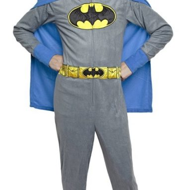 Batman Adult Hooded One Piece Pajama