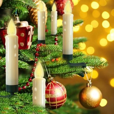 Battery Powered Remote Control LED Christmas Tree Candles