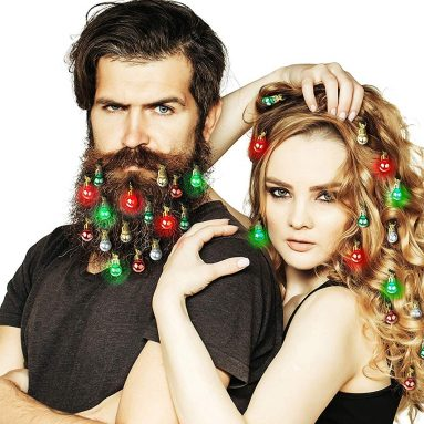 Beardaments Lights- Light Up Beard Ornaments