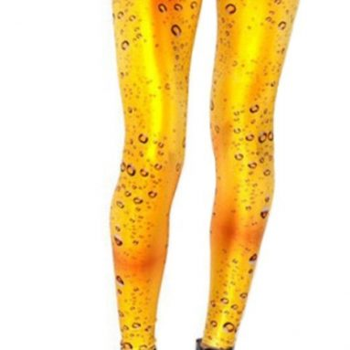 Beer Leggings Digital Print Pants