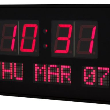Big Oversized LED Calendar Clock with Day and Date