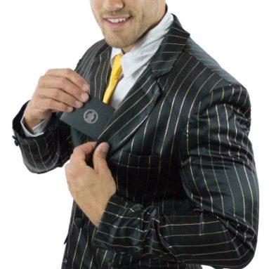 Black  Gold Pinstripe Suitjamas