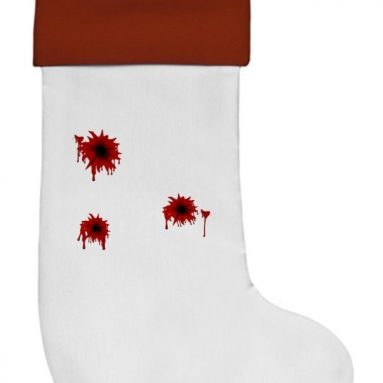Bloody Bullet Hole Stocking Christmas Stocking