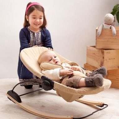 Bloom Coco Go 3-in-1 Baby Lounger  Bouncer  Rocker Natural Frame
