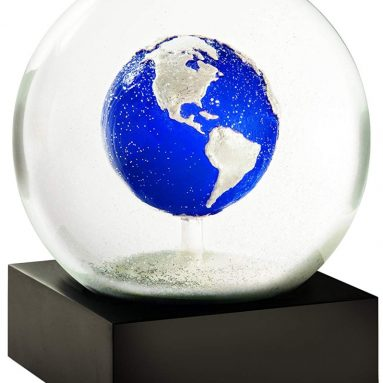 Blue Marble Planet Earth Snow Globe