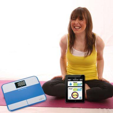 Bluetooth Digital Bathroom Scale Body Fat Step-On Technology