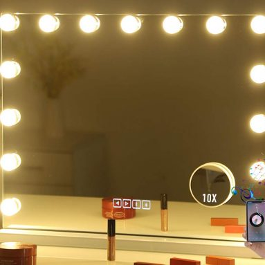 Bluetooth Hollywood Lighted Dressing Tabletop Mirror