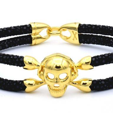 Bracelet Single Gold Skull