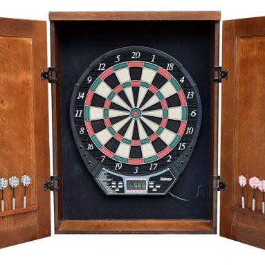 Brookline Electronic Dartboard Cabinet Set