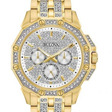 Bulova Men's Swarovski Crystal Pave Bracelet Watch