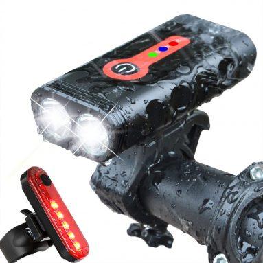 BurningSun Bike Light Set 5 Mode 1000 Lumens Super Bright