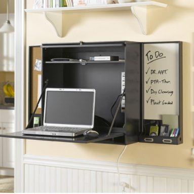 Bush Furniture Lakewood Wall-Mounted Laptop Organizer