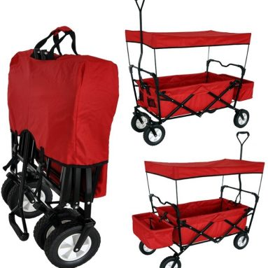 CANOPY GARDEN UTILITY TRAVEL CART WITH HANDLE