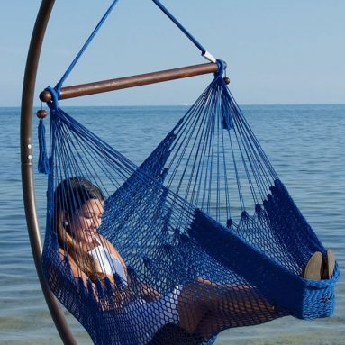 Caribbean Hammock Chair with Footrest