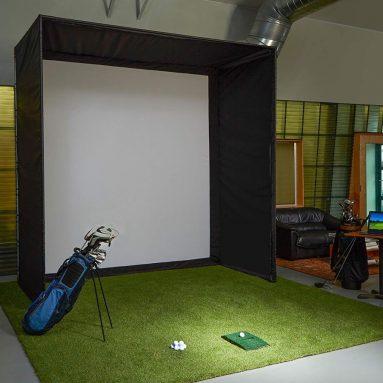 Carl's Golf Simulator Enclosure with Golf Impact Screen (Low-Profile 5′ Deep) DIY Kit
