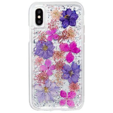 Apple iPhone 10 Purple Petals Case