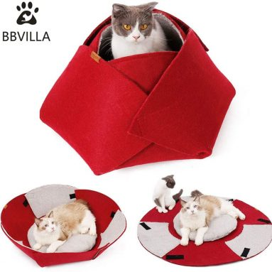 Cat House Indoor Cat Cave Bed Collapsible Pet House Warming Beds