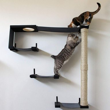 Hammock Climbing Activity Handcrafted Wall-Mounted Cat Tree