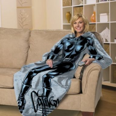 Catwoman Comfy Throw Blanket with Sleeves