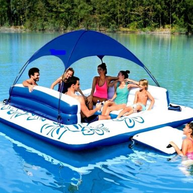 Chair Water Lounger Inflatable Lake Large Floating Island Lounge Raft