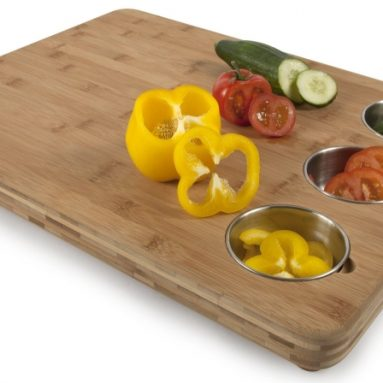 Chef Butchers Block with Prep Bowls