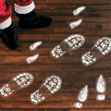 Christmas Decorations Footprints Party Decals Clings Floor Stickers