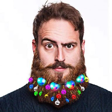 Christmas Light Up Beard Ornaments