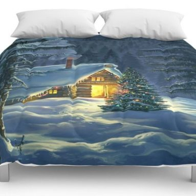 Christmas Snow Landscape Comforters King