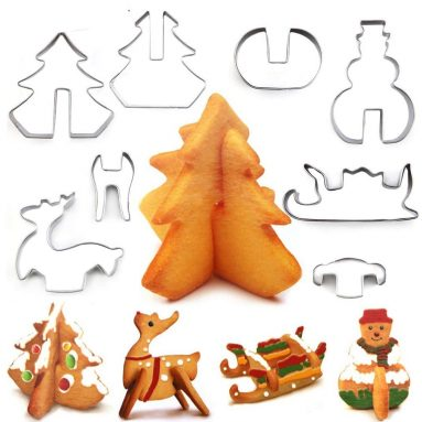 Christmas Stainless Steel 3D Cookie Cutters Set
