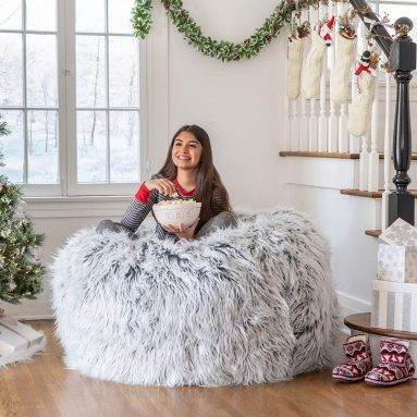 Christopher Knight Home Lycus Faux Fur Bean Bag Chair