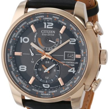 Citizen Men's Leather Strap Watch