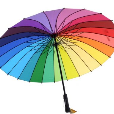 Classic Rainbow Pinwheel Pagoda Umbrella