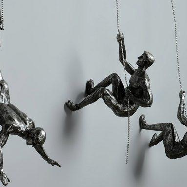 Climbing Man Wall Sculpture Creative