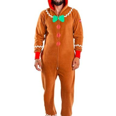Tipsy Elves Men's Gingerbread Jumpsuit