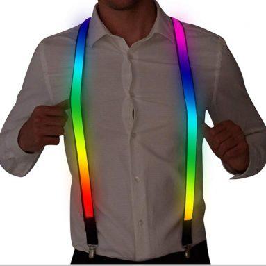 Man LED Light up Rave Suspender