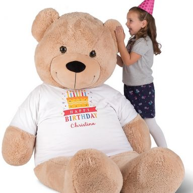The Personalized 6′ Teddy Bear