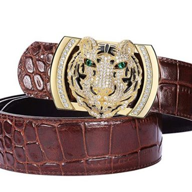Men Alligator Pattern Tiger/Dragon/Eagle/Panther Plaque Buckle
