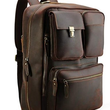 Men's Genuine Leather Convertible Backpack