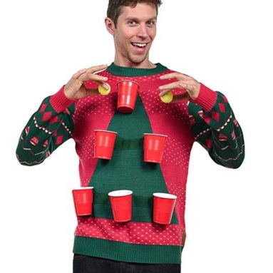 Men's Beer Pong Game Christmas Sweater
