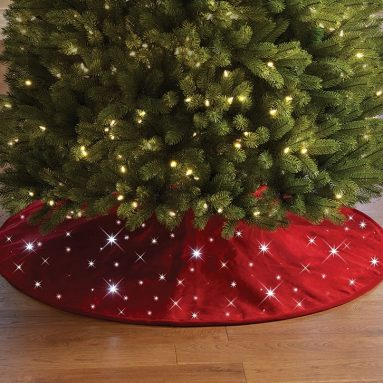 The Cordless Twinkling Tree Skirt