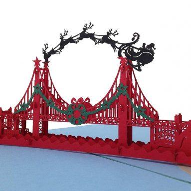 Holidaypop Christmas San Francisco Golden Gate Bridge Pop Up Card