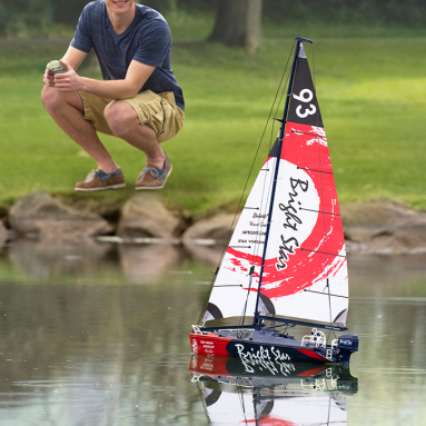 The 2′ RC Motorized Sailboat
