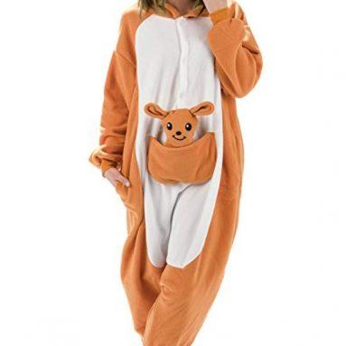 Adult Kangaroo Animal Onesie Costume Pajamas