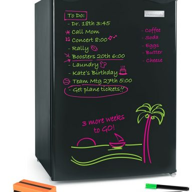 The Dry Erase Board Mini Fridge/Freezer
