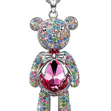 """Bear Princess"" Made with Pink Swarovski Crystals"