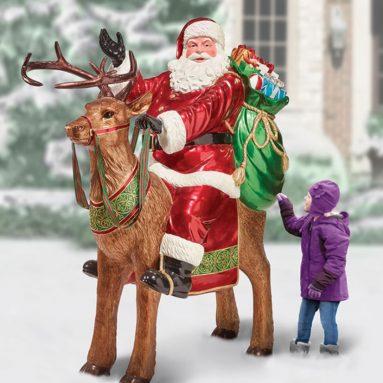 The Kensington Reindeer Riding Santa Floor Sample