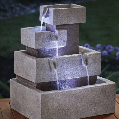 The Solar Illuminated Cascading Fountain
